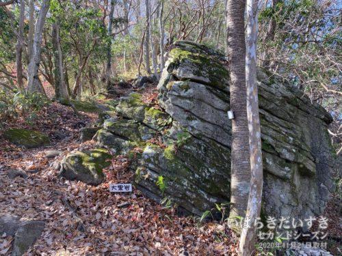 「大黒岩」の案内板が見える。