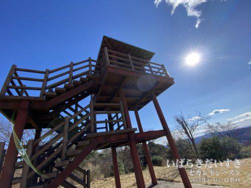 土岳山頂には、展望台があります!