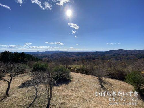 土岳展望台からの眺めは、なかなか素晴らしい。