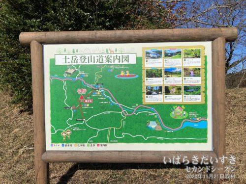 土岳登山道案内図。