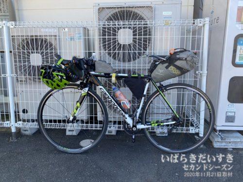 JR高萩駅前にて、フェードアウト!(輪行解除!)
