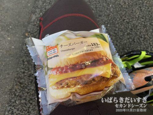 このチーズバーガーが今日のお昼なのか。。