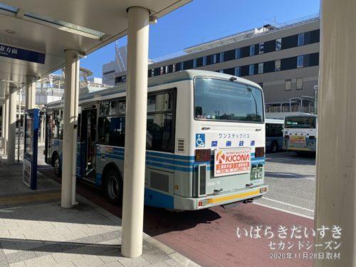 筑波山口駅行きの路線バスに乗車します。