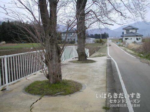 筑波鉄道 東飯田駅 のホーム上。