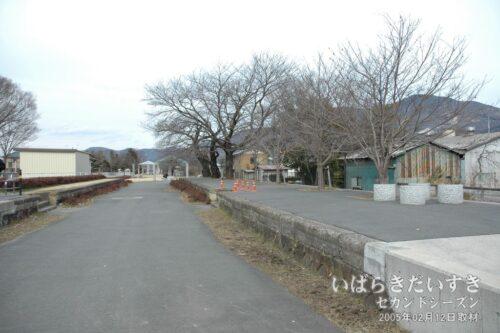 筑波鉄道 旧真壁駅跡。つくばりんりんロード。