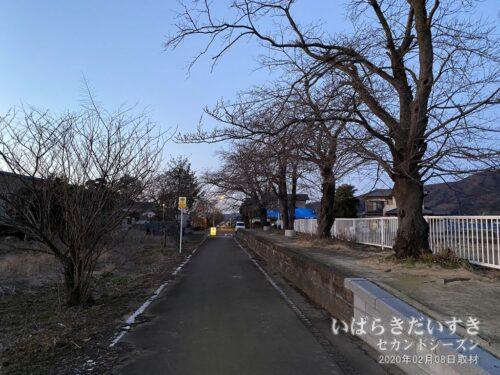 2020年(令和02年)の東飯田駅ホーム。
