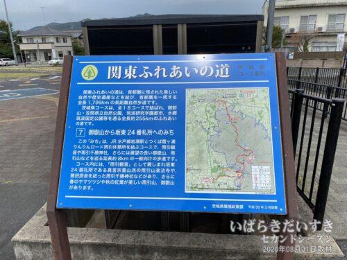 岩瀬駅前の新しい「関東ふれあいの道」の看板。