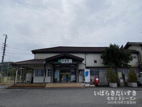 岩瀬駅 駅舎。(2020年)