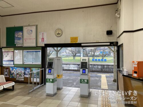 岩瀬駅 簡易Suica改札。(2020年)
