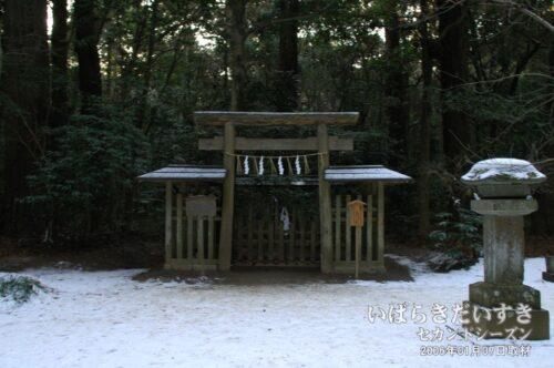 鹿島神宮 要石 (2006年01月撮影)