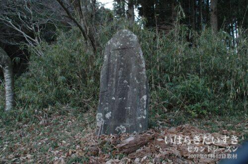 石鳥居建設記念:「大正14年」の文字が見える。