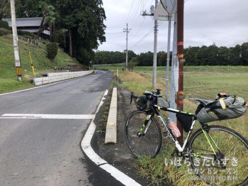 茨城鉄道 田野駅跡。この部分自体には被害が確認できなかった。