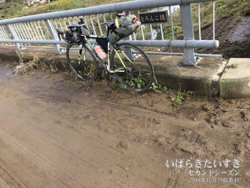 とろんこ橋も、未だ泥に覆われていました。