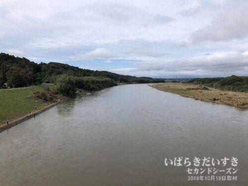 水量の衰えない、那珂川。