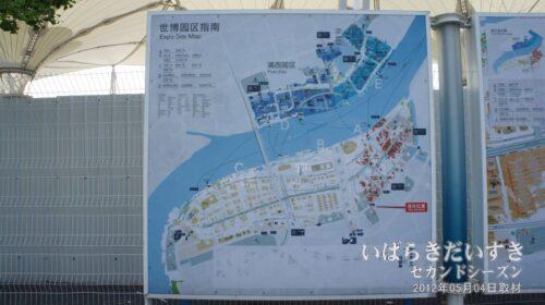 上海万博開催期間中のMAPが残されています。