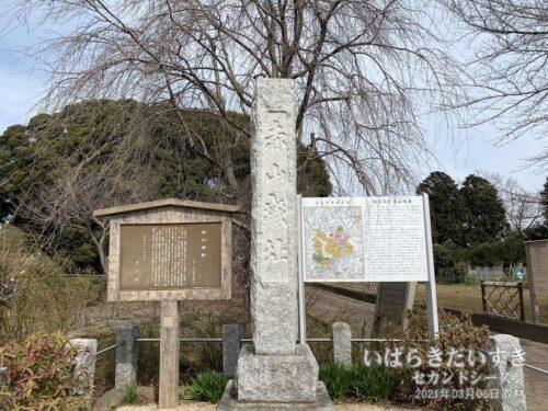 「赤山城址」の碑。